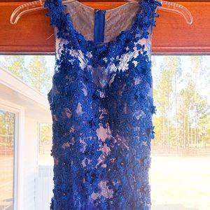 Royal Blue lace Formal, Prom Dress